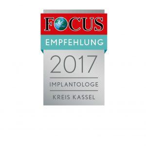 Focus Empfehlung 2017 Implantologie Kreis Kassel